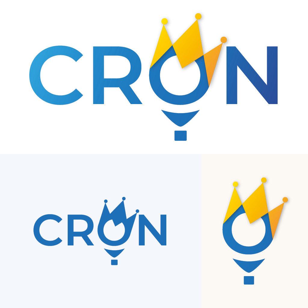Daily Logo Challenge Day 2, un logo nommer Crown, pour une entreprise de montgolfière, celle ci emporte le W de Crown, formant une couronne, vers le ciel