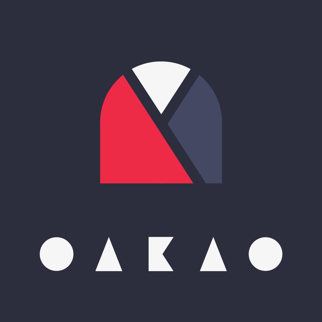 Logo, durant le Daily Logo Challenge, Oakao, il devait représenter une marque de vêtement, j'ai donc opté pour une marque de Kimono, et un choix typographique très minimaliste