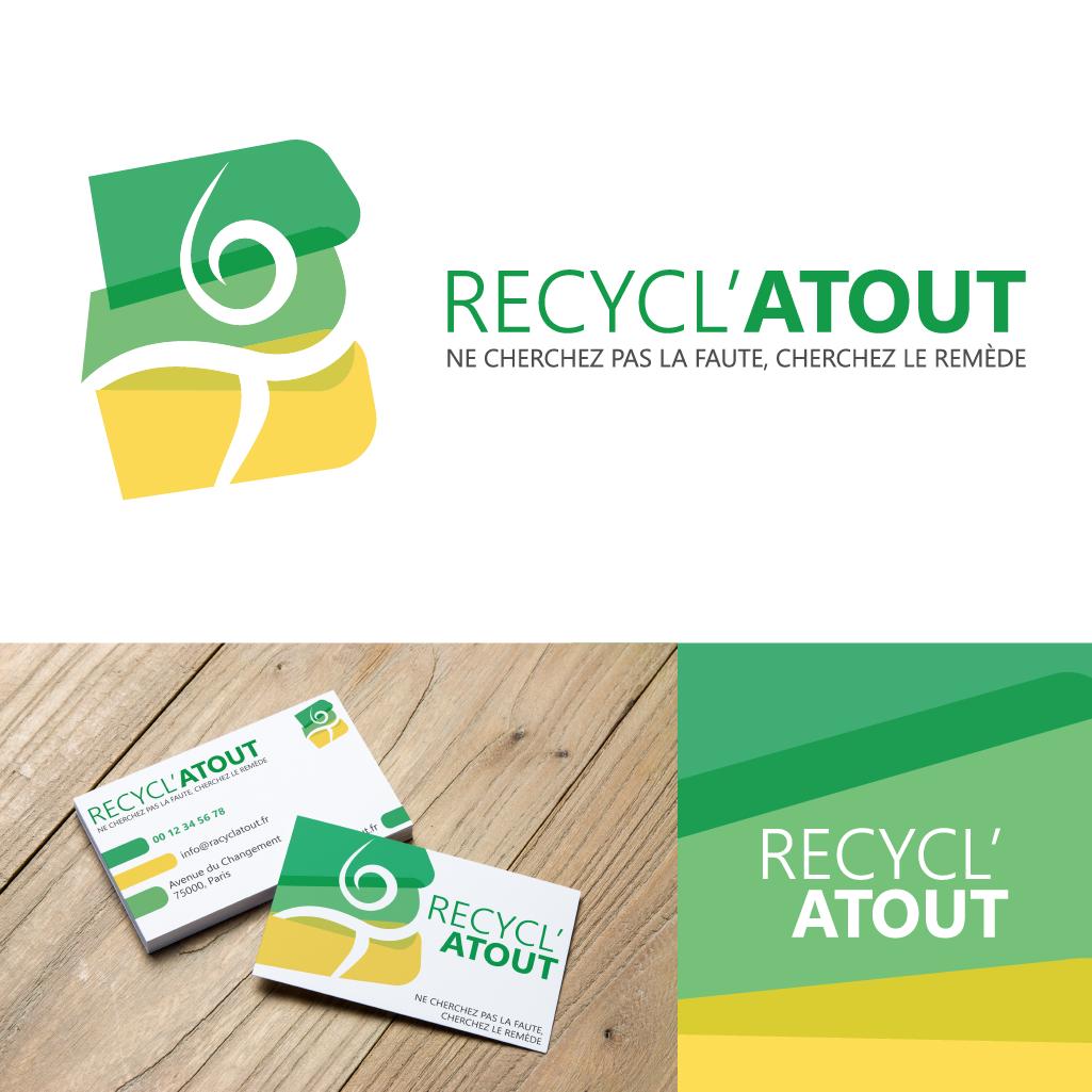 """Un logo, accompagné de son slogan, et sa carte de visite, un kit complet pour une association éco responsable. """"Ne cherchez pas la faute, cherchez le remède"""""""