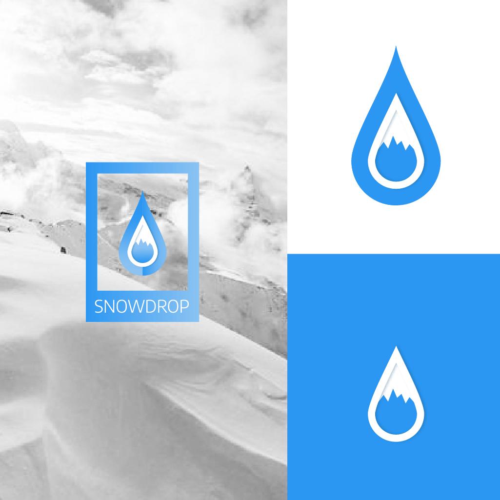 Un Logo, Snowdrop, crée durant le daily logo challenge, très inspirant.