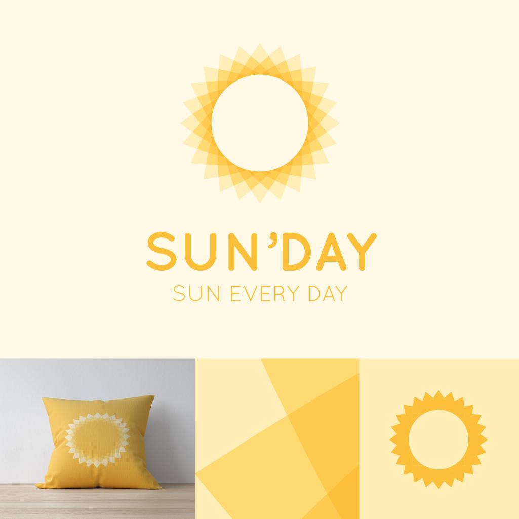 """Le logo """"SUN'DAY"""" est un simple soleil, utilisable pour beaucoup de chose différente, à vous de l'interpréter de la manière que vous le souhaitez."""